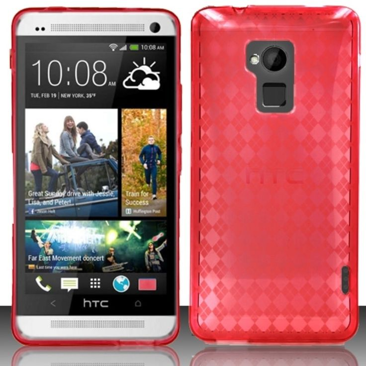 Insten Ultra Slim Dirt Dust Proof TPU Rubber Candy Skin Phone Case Cover for HTC One Max T6 #1883380