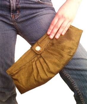 Tutorial: classy pleated iridescent clutch - PURSES, BAGS, WALLETS