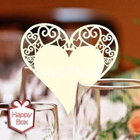mariposas caladas papel perlado decorar copas x