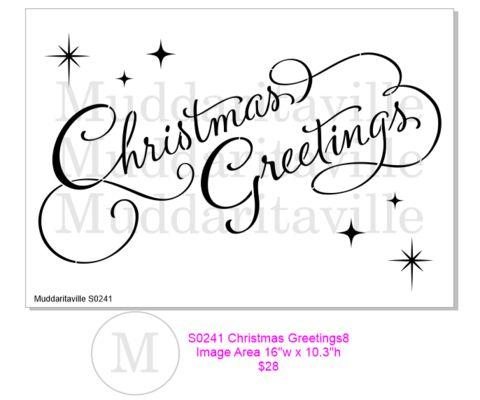 S0242 Christmas Greetings – Muddaritaville Studio