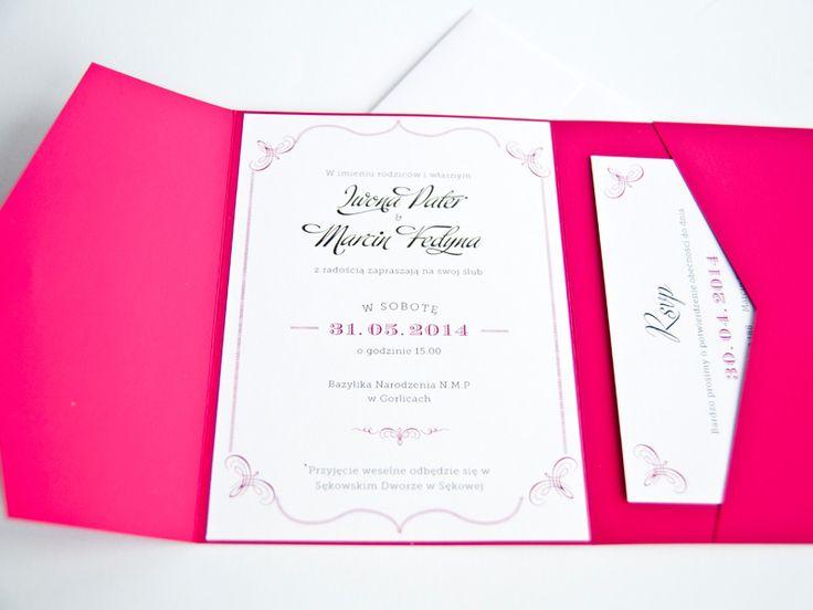 Zaproszenia w folderze : Zaproszenia w folderze Stella