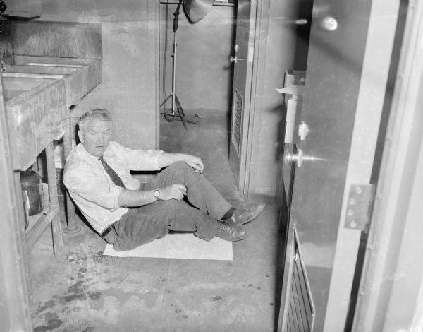 Sid Waking Up at Work   Photograph   Wisconsin Historical Society