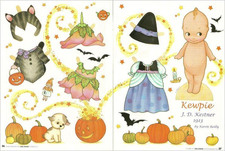 KEWPIE J. D. Kestner 1913 Magazine Paper Doll reproduced by artist Karen Reilly from Doll Reader 2011