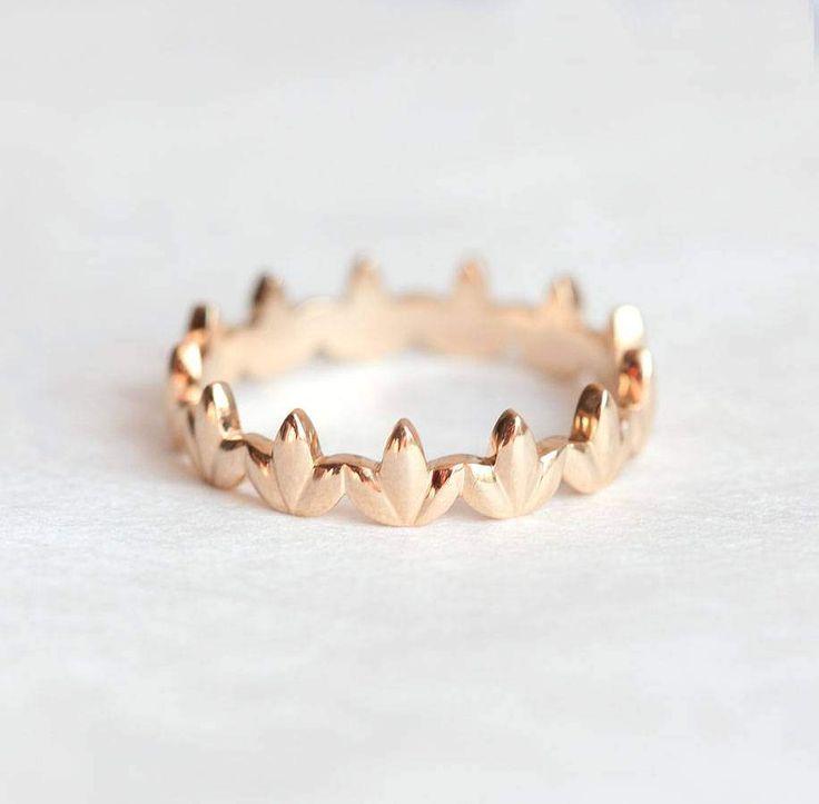 Bandringe - Gold Ring, 14k Gold/Rosegold/Weißgold (585) - ein Designerstück von Capucinne bei DaWanda