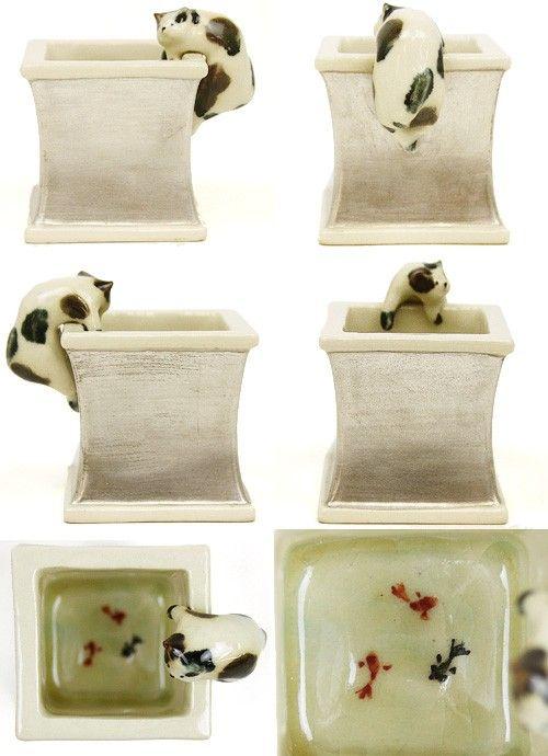 【茶器/茶道具・蓋置】蓋置 一閑猫