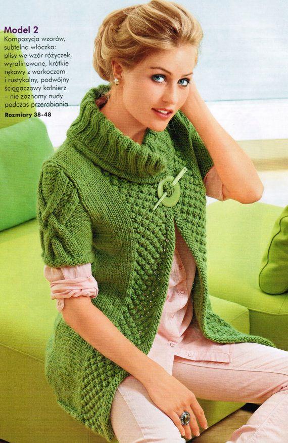Vest rustic merino wool knitting      ♪ ♪ ... #inspiration #diy GB…