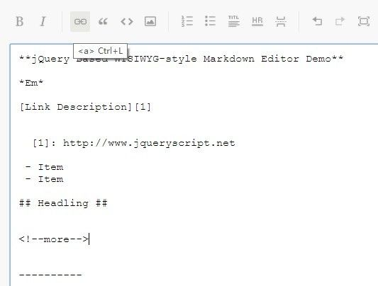 A simple, clean in-browser WYSIWYG markdown editor built with jQuery that…
