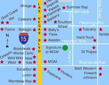 The Signature at MGM Grand Location Map