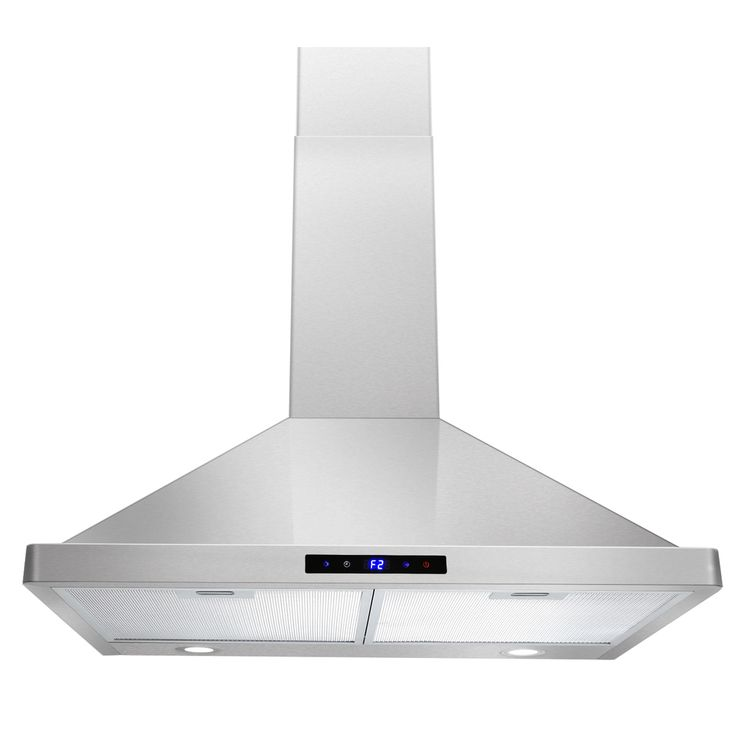 Akdy  Inch Wall Mount Stainless Steel Kitchen Vent Range Hood
