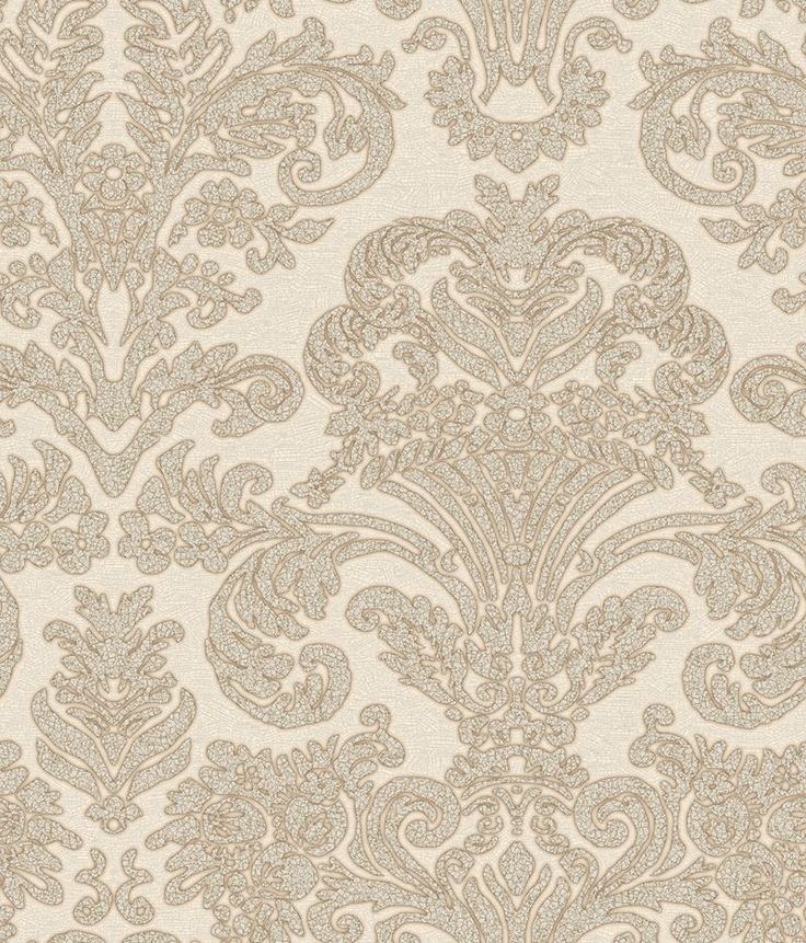 Fashionable modern white wallcovering by Brewster. Item