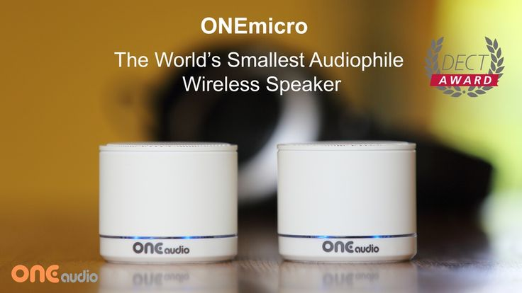 ONEmicro: The World's Smallest Audiophile Wireless Speaker project video…