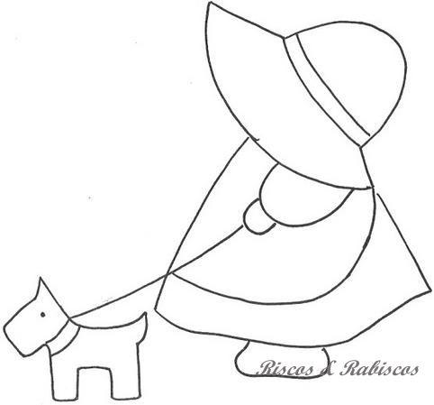 Ulla's Quilt World - Sunbonnet Sue & her dog.