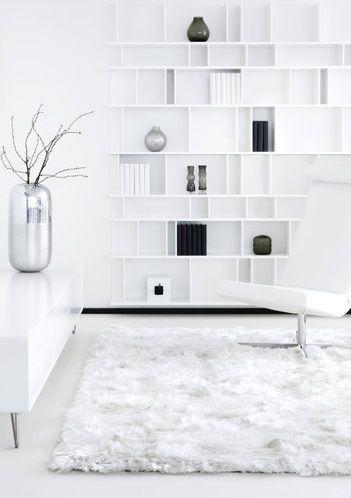 Amelie White. Modern en luxe vloerkleed.