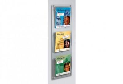Den formschönen Wandprospekthalter gibt es entweder mit 4 Halterungen in DIN lang (Faltprospekt)-Format oder mit 3 Halterungen für DIN A4 Prospekte. http://www.starexpo.de/prospekthalter/wandprospekthalter/wandprospekthalter-a4-artline/