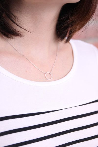 Circle Pendant Necklace Circle pendant on a dainty chain. Make this piece a part of your everyday wear. Nickel free
