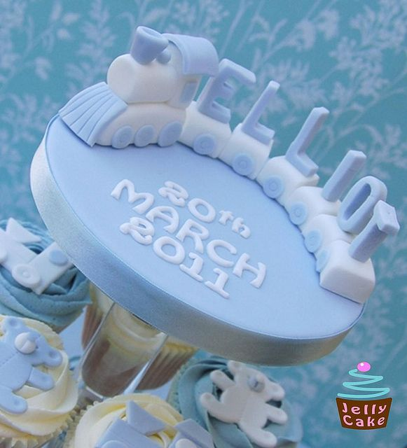 Train Christening Cupcakes by www.jellycake.co.uk, via Flickr