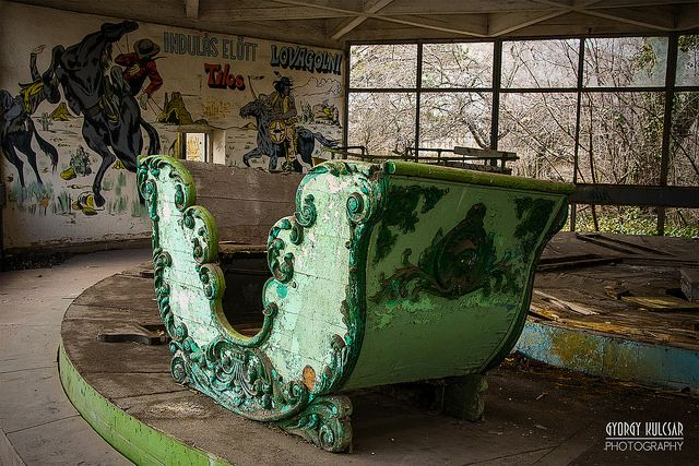 Abandoned amusement park, Dunaújváros, Hungary