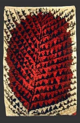 Kirsti Ilvessalo, Metsässä Palaa (Burning Forest) Wool Rug 1947.