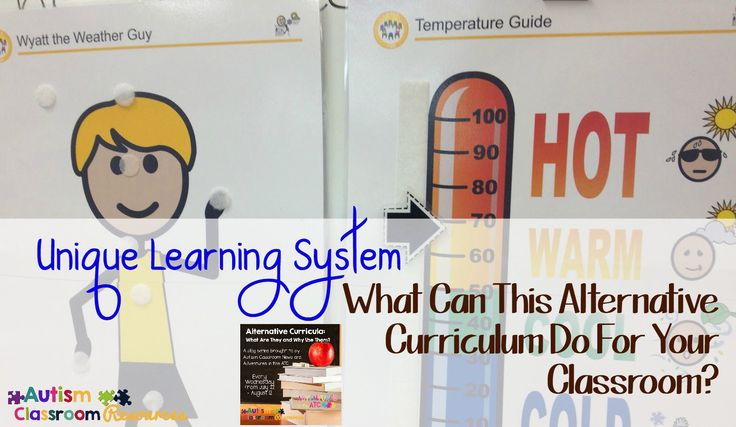 Unique Learning System alternative curriculum. I think it's got lots of good materials and is a great help to CR teachers, but it's not the answer for every kid. A great addition to the special ed class.
