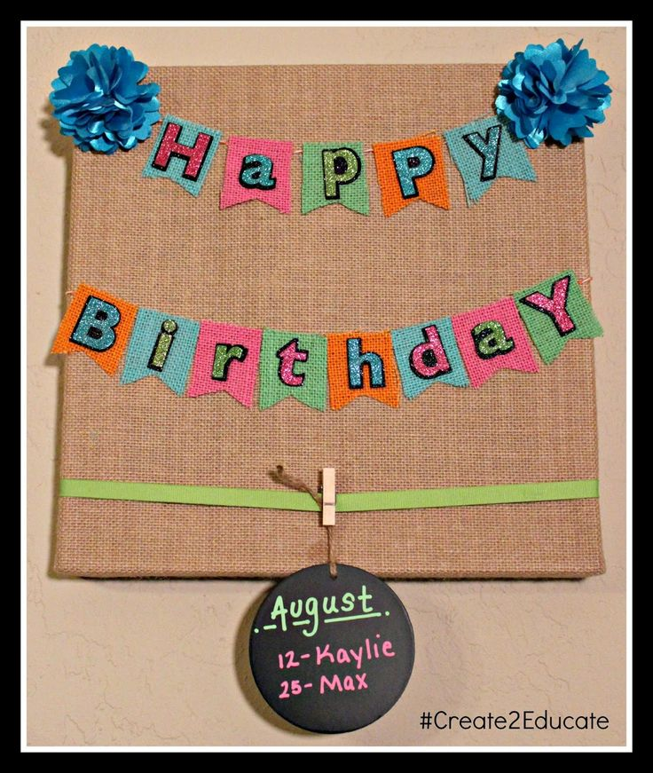 Birthday Board Display - for teachers lounge, change teachers each month.