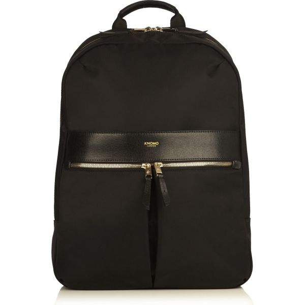 Beauchamp Laptop Backpack from KNOMO: Official Store | Womens Laptop Bag | Sleek Nylon Black Backpack | Designed by KNOMO London