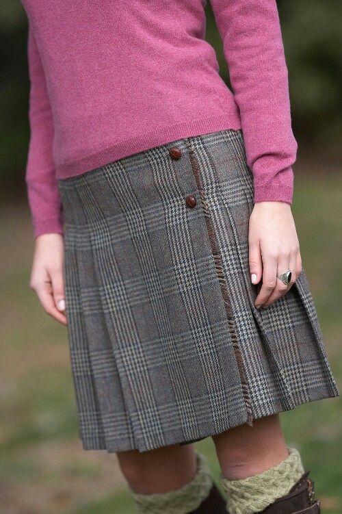 Tweed kilt skirt from Really Wild clothing