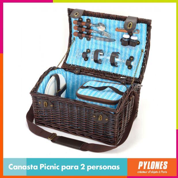 Canasta para picnic 2 personas #SemanaSanta #Santo #Vacaciones  @pylonesco