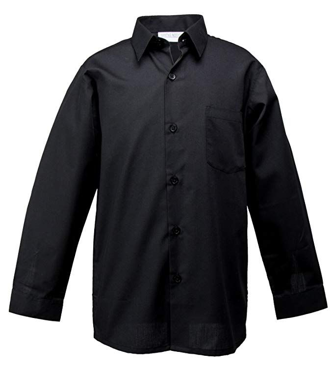 97100511d94 Spring Notion Big Boys  Long Sleeve Dress Shirt 5 Black