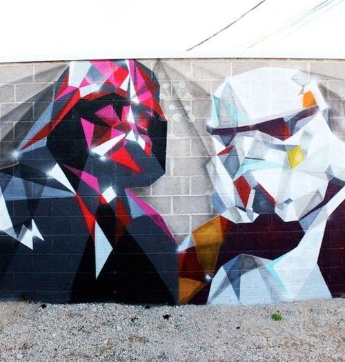 Star Wars piece by East in Denver, Colorado.