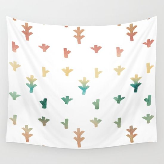 Colorful Boho tree pattern Wall Tapestry. #painting #digital #oil #watercolor #aerosol #ink #pattern #abstract #vintage #illustration #realism #3-d #minimalism #boho #tree-pattern #trend #aztec #minimal #art #texture #surrealism