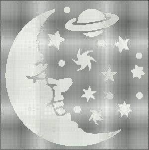 star filet crochet patterns | ePier - New Filet Crochet Pattern/Afghan - Moon and Stars