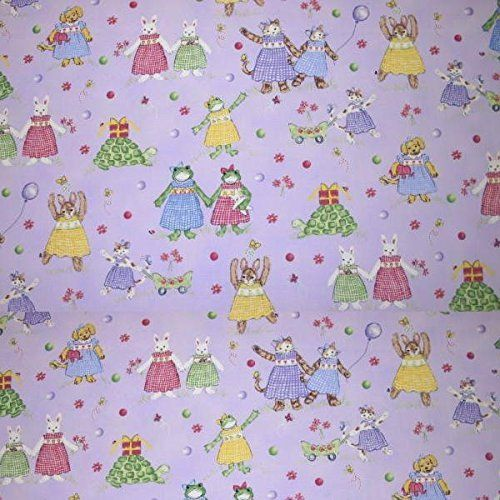 "Curtain Panels Nursery Room Petite Playmate color Lavender Fabric, Made to Order. Price for Two Curtain Panels in multiple sizes select from the list (Panel measurements is for laying out Flat size, NOT WINDOW SIZE). + Length includes 3"" pocket, 0"" header. + Note: pocket is part the rod goes thru, header is above pocket (see demo picture). + Unlined. + Fabric 100% cotton. + Care: Hand wash or dry cleaned + Can be hung flat (need 1- 1 ½ times the width of your window) or Fuller/gathered…"