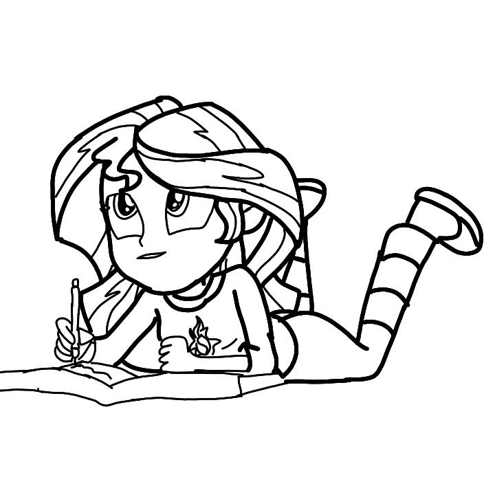 Sunset Shimmer Coloring 7 Sunset Shimmer Coloring Pages
