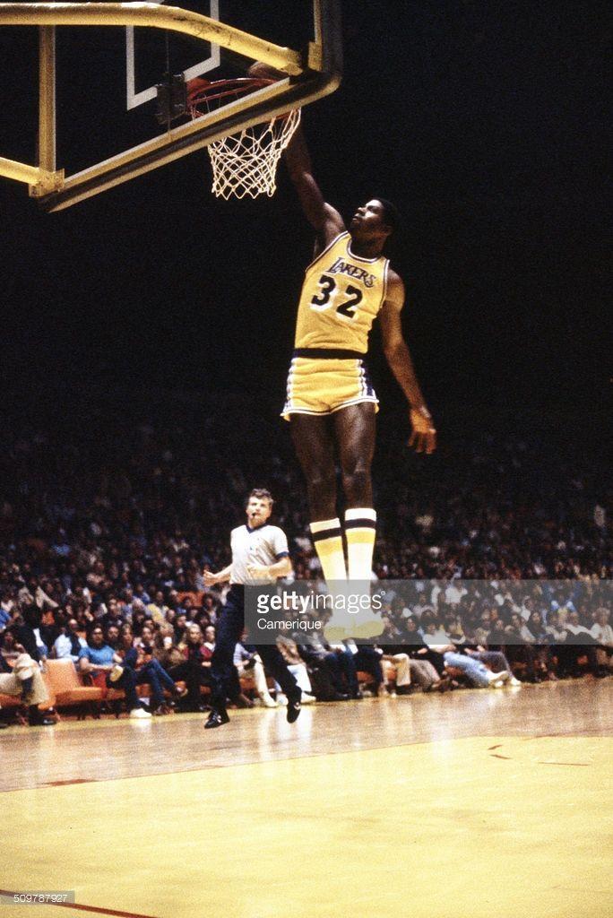 American basketball player Magic Johnson (born Earvin Johnson Jr), of the  Los Angeles