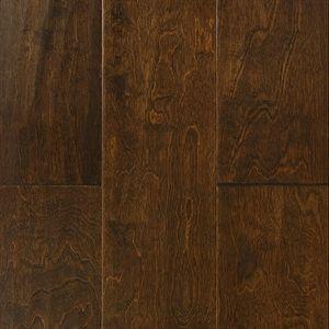 """Show details for Nuvelle Blowing Rock Maple Cognac- 6-1/2"""", Dark brown floor, handscraped floor, engineered floor, maple hardwood, antiqued floor, vintage floor, floor idea, floor trend, wide plank floor"""