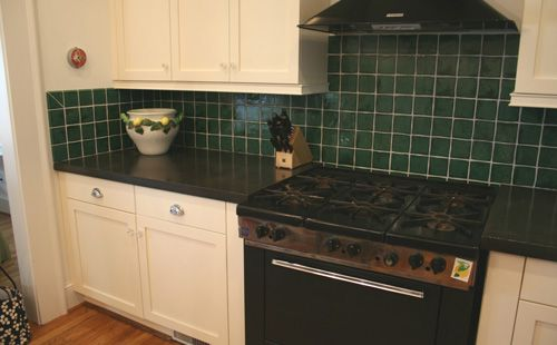 [fan-inspired] This fan-inspired project uses QUIKRETE Countertop Mix to give a kitchen an updated look.