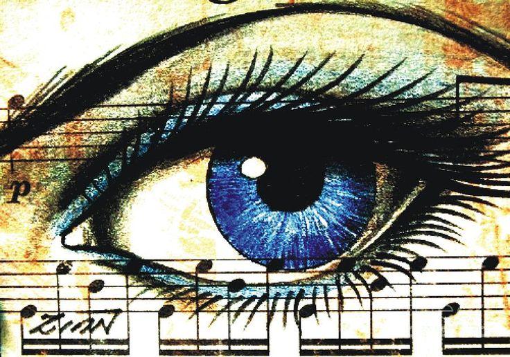 Blue Music Drawing - Blue Music Fine Art Print