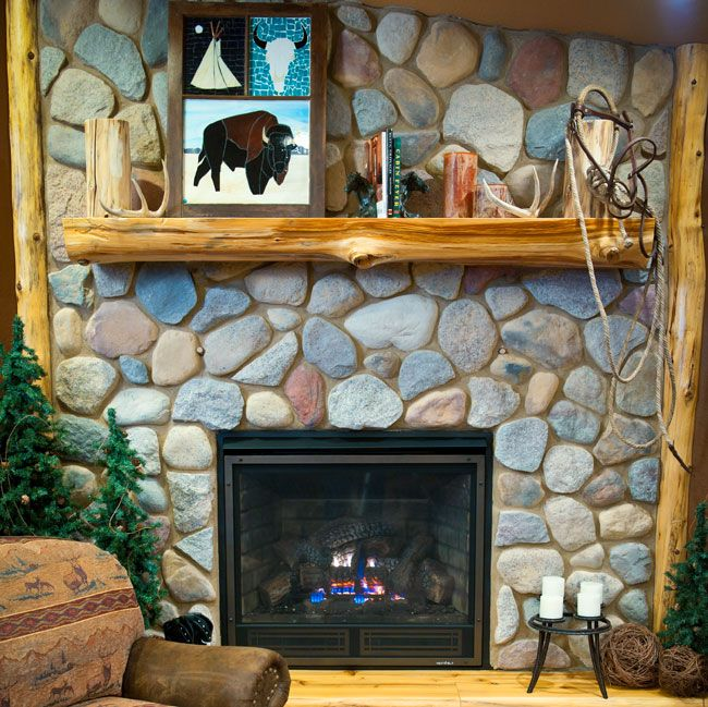 Ideas For Log Mantels Above Fireplaces Log Fireplace