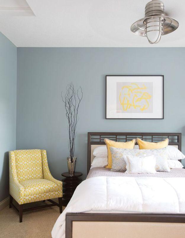 Фотография: Спальня в стиле Восточный, Декор интерьера, Дизайн интерьера, Цвет в интерьере, приятный сон, оптические обманки в интерьере, психология цвета, цвет и свет – фото на InMyRoom.ru