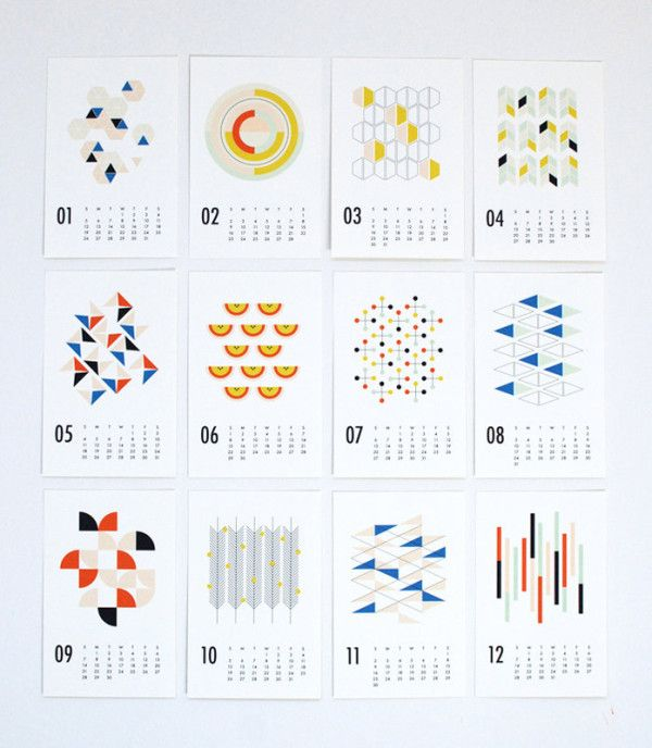 25 MODERN CALENDARS FOR 2014 http://design-milk.com/2014-modern-calendars/
