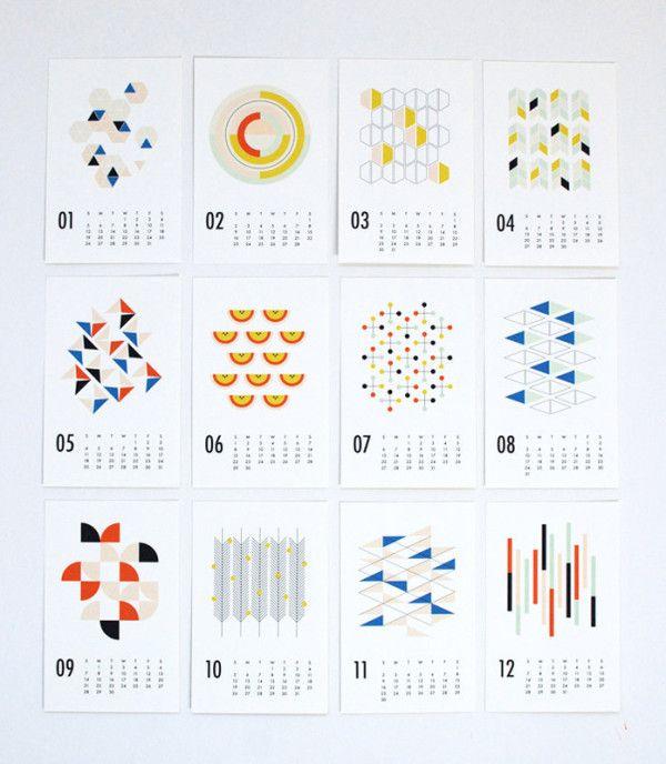 25 MODERN CALENDARS FOR 2014 http://design-milk.com/2014-modern-calendars/