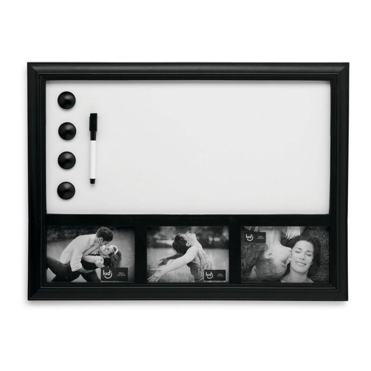 Quadro Porta Retratos com lousa magnética para você escrever suas mensagens!