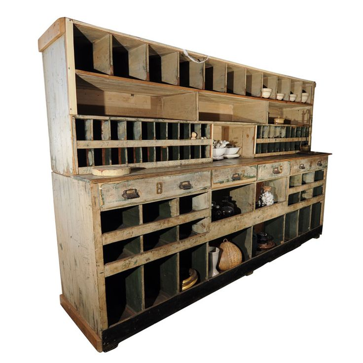 Two Piece Mercantile Cabinet
