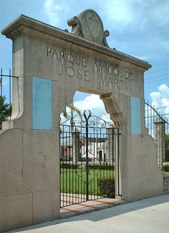 """Parque Amigos de José Martí en Ybor City. This would count as my """"trip"""" to Cuba since it technically is Cuban soil."""