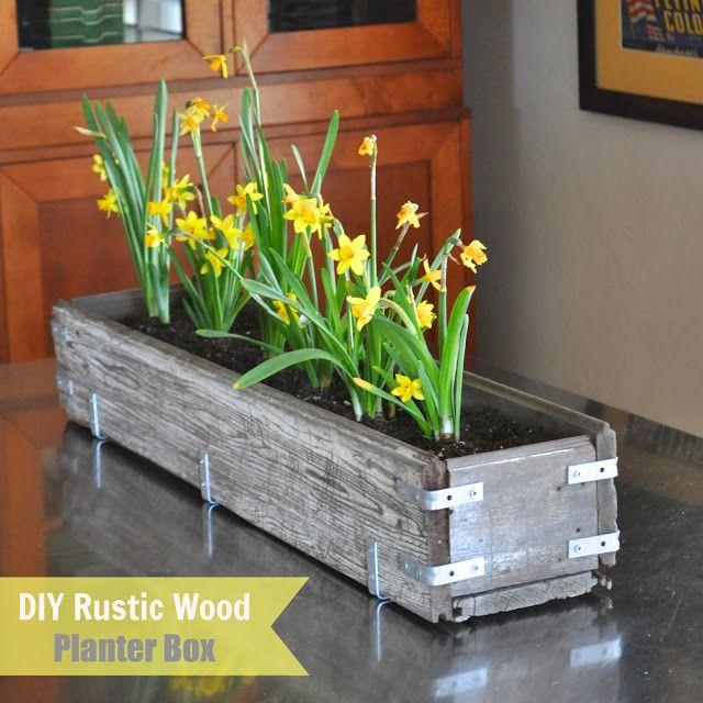 Make Life Lovely: DIY Rustic Wood Planter Box  http://make-life-lovely.blogspot.com/2013/02/diy-rustic-wood-planter-box.html#