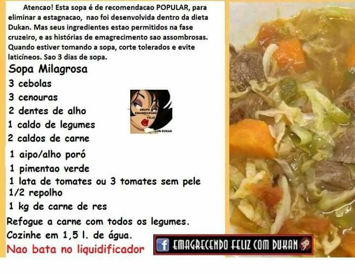 Estagnou sopa.