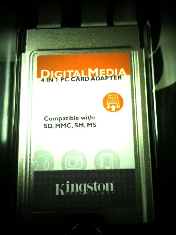 Kingston Technology 4-1 #PC Card Adapter #Kingstontech