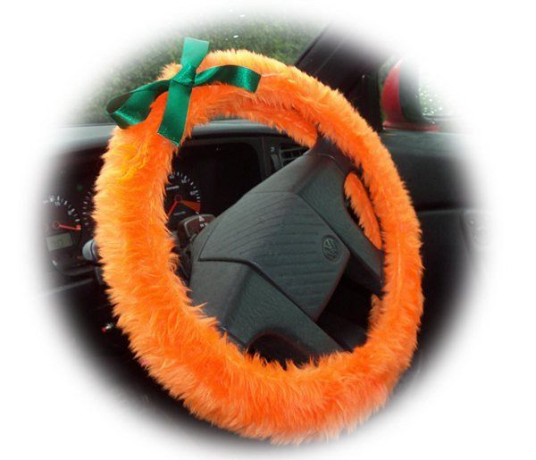 Cute Pumpkin Orange fuzzy steering wheel cover with green satin bow dress up your car for halloween http://ift.tt/1MdrObG Free Worldwide postage !  #caraccessories #pumpkin #steeringwheelcover #orange #halloween #fancydress #cute #caraccessories #pumpkinorange #shopify #etsy #handmade #wanelo #carsofinstagram #modifiedgirls #funky #fun #october31st #truckaccessories #jeepaccessories #campervanaccessories #carfun
