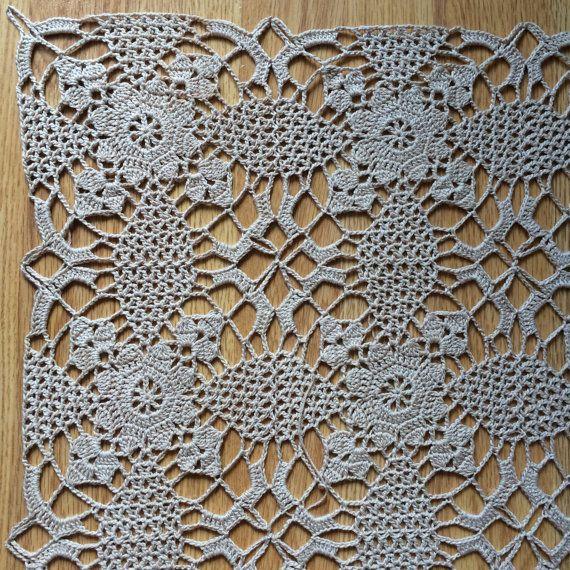 Crochet Square Tablecloth Tablecenter Doily Home от LaTricoteira
