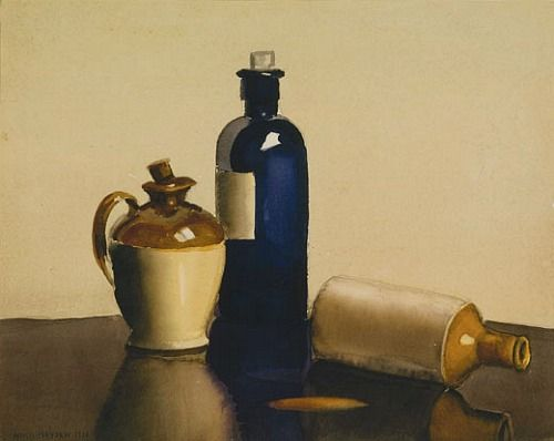 Nora Heysen  Still Life of Bottles  1926